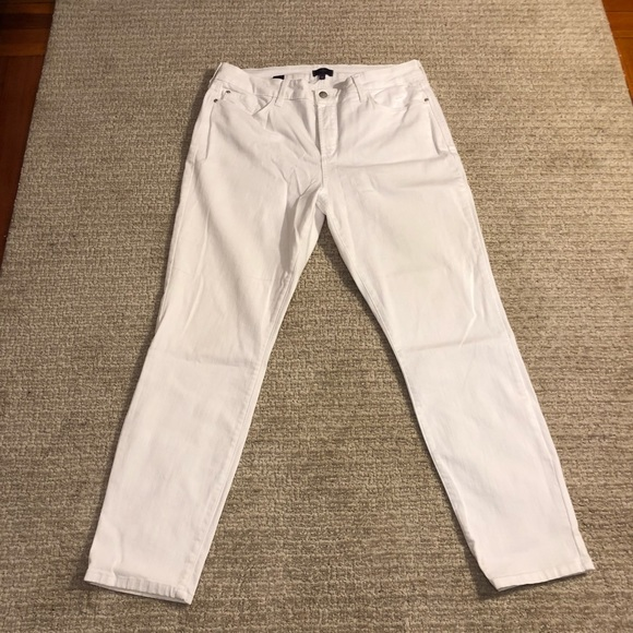 NYDJ Denim - NYDJ SZ 14 White Ankle length Jeans